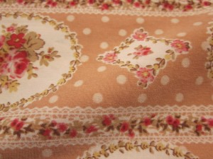 Polyester printed wool peach fabric 140gsm