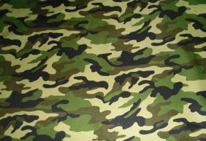 Microfiber camouflage fabric