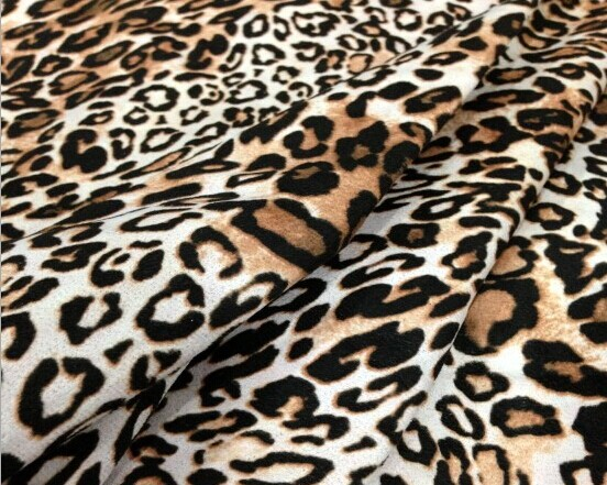 Polyester suede fabric printed