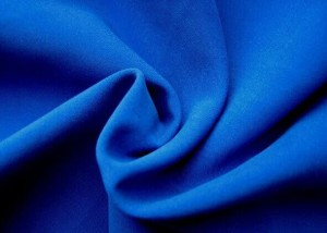 Woven dyed polyester microfiber peach skin fabric
