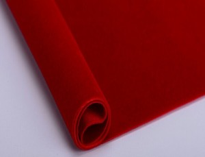Polyester pongee fabric flocking