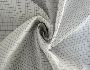 Anti-static plain grid taffeta fabric