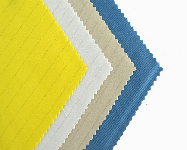 Anti-static stripe matt fabric