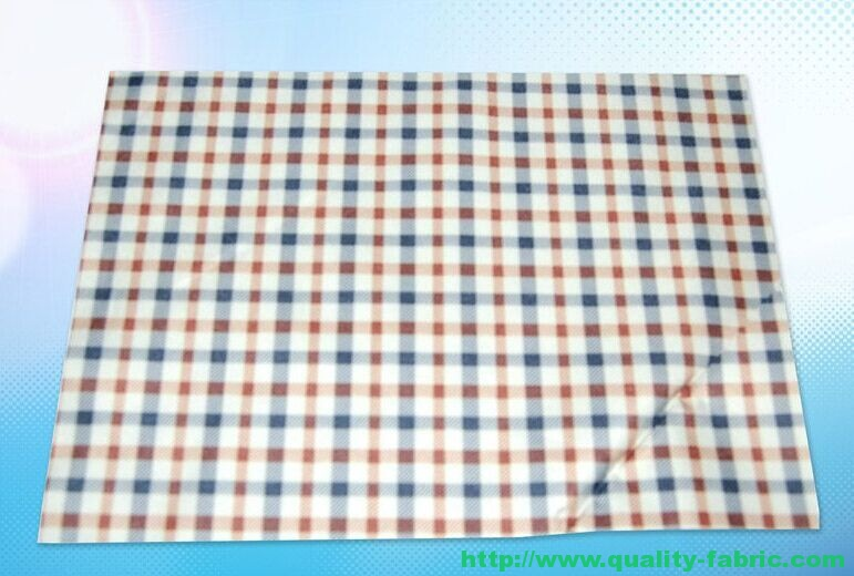 Checked Polyester Pongee Fabric