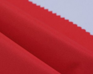 Polyester PUcoating pongee fabric for downjacket uniform