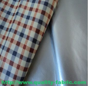 Polyester Pongee Argent Rubberized Fabric