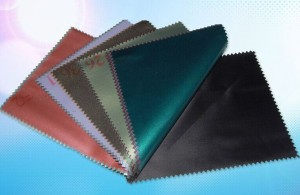 Polyester Pongee Colored Rubberized Fabric