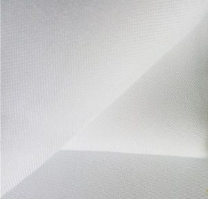 Polyester spun yarn fabric opitical white