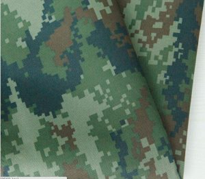 Polyester 150D camouflage printing oxford fabric