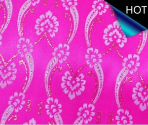 Metallic Printed Satin Fabric for Decoration
