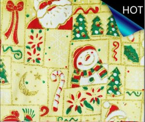 Poly Satin Christmas Printed Fabric