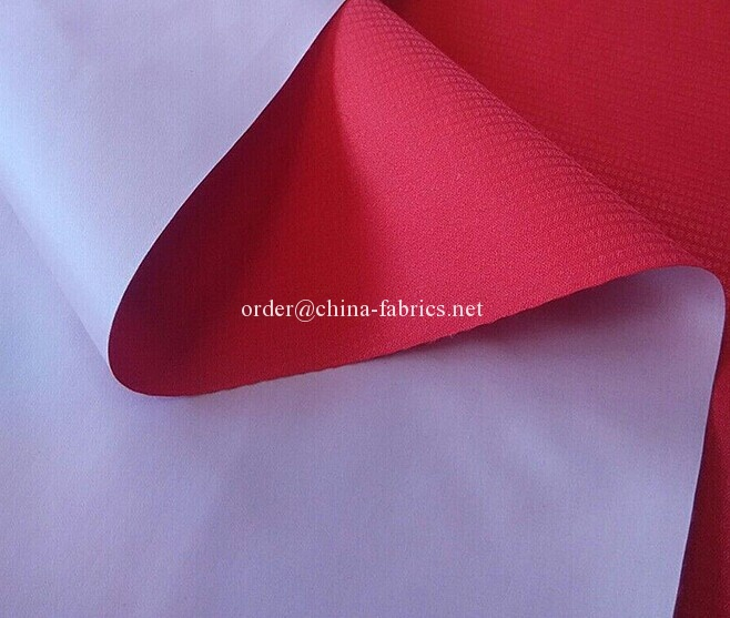 Polyester 300T pongee fabric pu milky coating