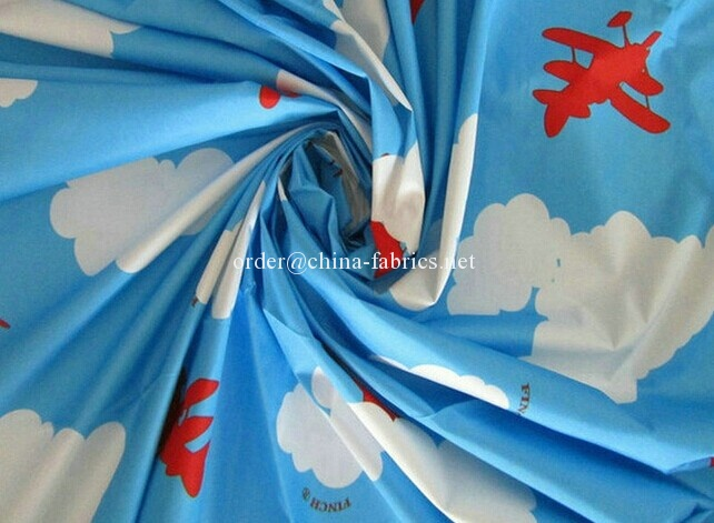 Polyester 380T printing microfiber pongee fabric