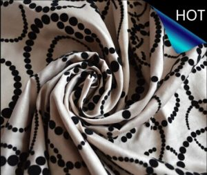 Polyester Dull Satin Flocking Fabric for Sofa and Cushion