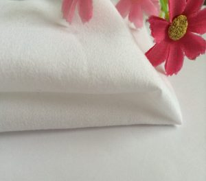 Polyester Plain Microfiber Fabric Peach Finished 120 gsm