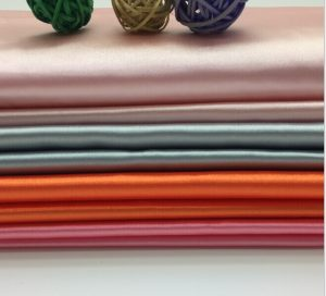 Polyester Satin Fabric for Dress Lining and Decoration