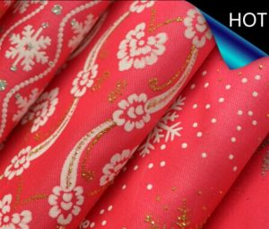Polyester Satin Metallic Printed Fabric for Decoration