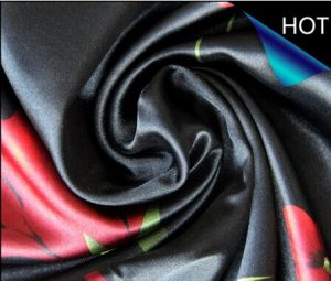 Polyester Satin Printed Fabric for Bedding