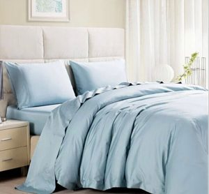 polyester matte satin fabric bed sheet