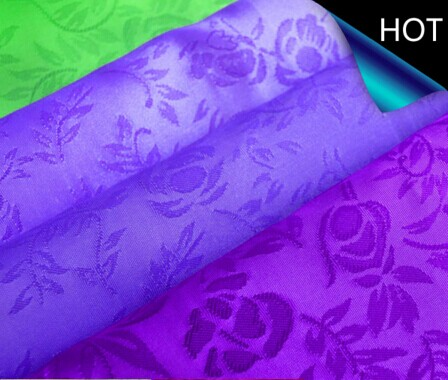 Polyester satin Jacquard Fabric for Home Textile