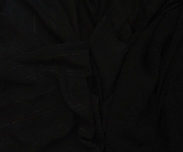 Polyester Fursan Fabric Korea Formal Black Color