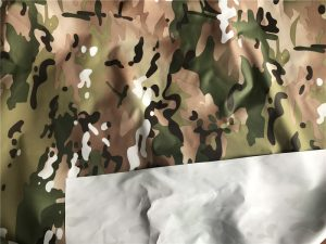 Polyester 190T taffeta fabric multicam printed pvc coating
