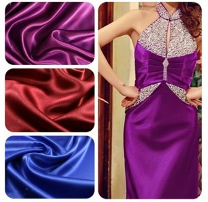 Matte stretch satin fabric for evening dress