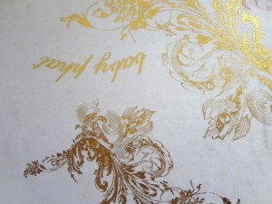 Polyester Pongee Gold Stamped Fabric