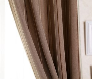 Polyester two tone blackout curtain fabric