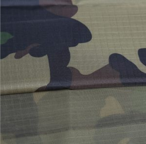 Polyester 210t ripstop taffeta printed tent fabric pu coating