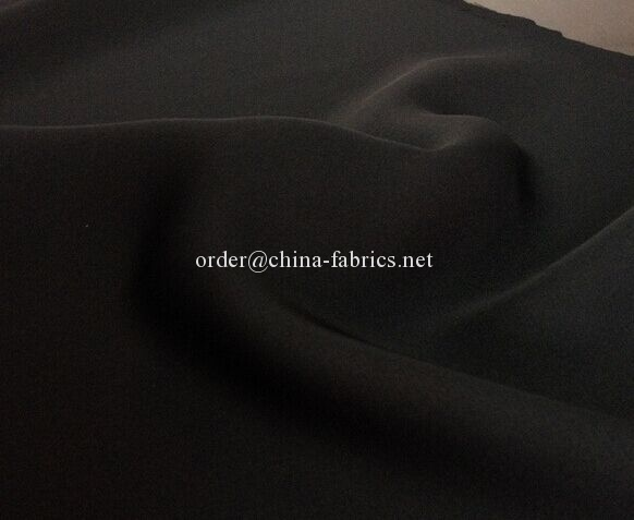 Polyester abaya nida formal black fabric