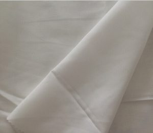 Polyester spun yarn fabric white
