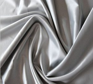 Polyester 50D matte spandex stretch satin fabric