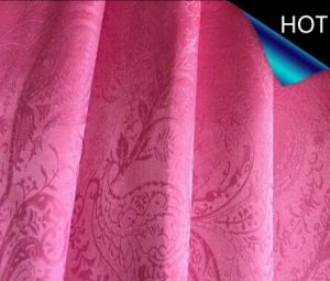 Polyester Jacquard Satin Fabric for Curtain