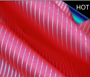 Polyester Satin Fabric Foil Printing for Dress and Lining
