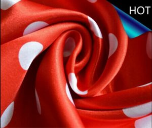 Polyester Satin Fabric Printing for Decoration