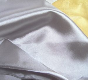 Polyester Satin Fabric  with Seleve Heat-cut