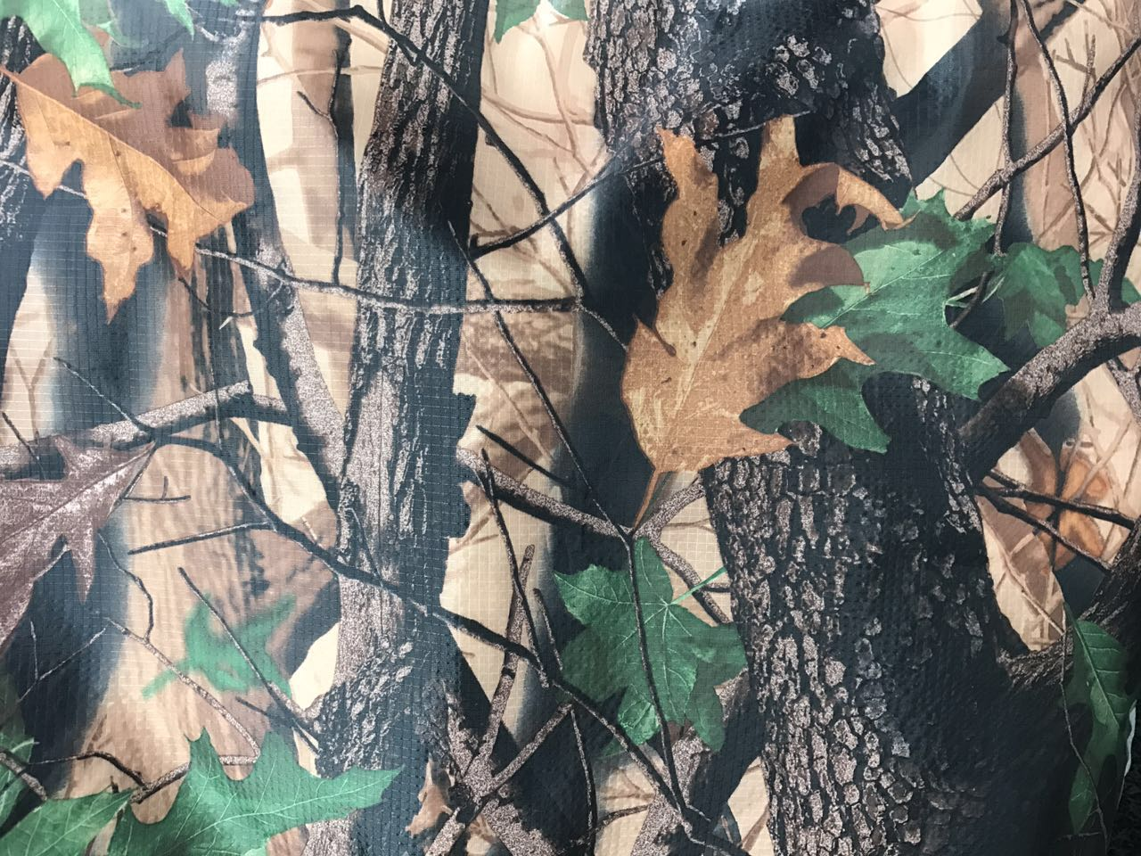 Polyester rip-stop fabric 190 T taffeta real tree camouflage printed