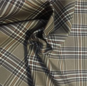 Polyester microfiber yarn dyed fabric